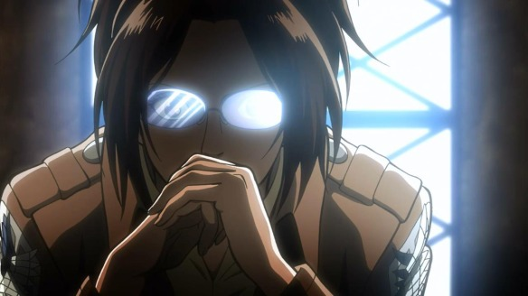 "Looks like Hanji can also master the ""gendo"" pose"